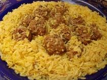 Moroccan Meatballs with Saffron Rice