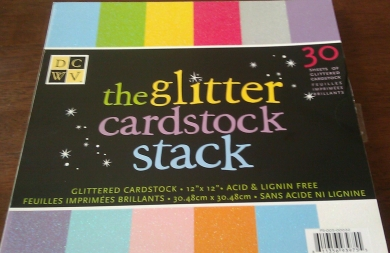 Misfit Mama Reviews: Glitter Card Stock